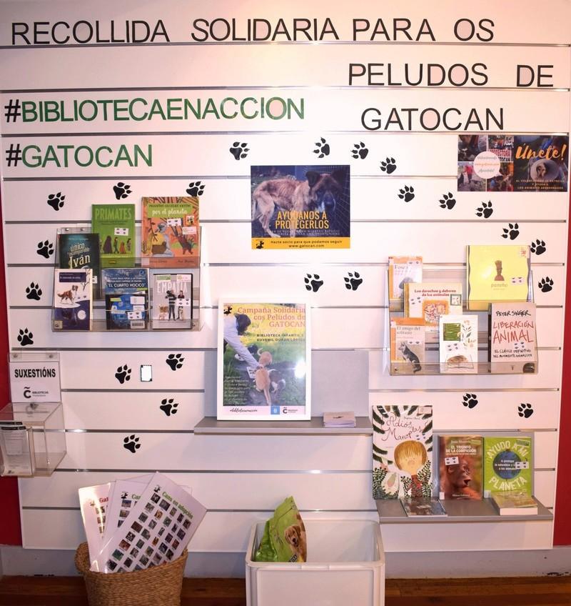 Campaña informativa y recogida de alimentos para los peludos de Gatocan en la Biblioteca Duran Loriga de A Coruña Mostra10
