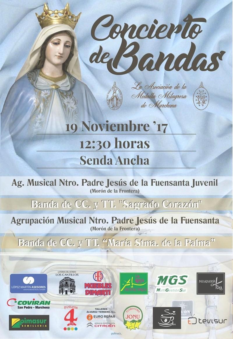 Concierto de bandas el domingo 19 de noviembre en Senda Ancha Whatsa10
