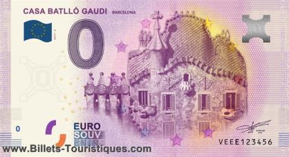 "BILLETES ""O"" (ZERO) EUROS.................(en general) Barcel11"