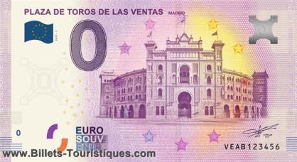 "BILLETES ""O"" (ZERO) EUROS.................(en general) Madrid11"