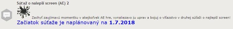 [OFFICIAL] Súťaž o najlepší screen (AE) 2 // scheduled/01-07 Syaaaa10