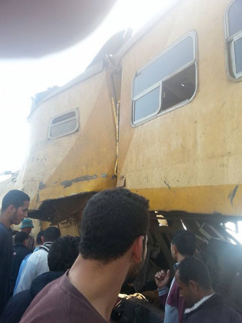 ارتفاع ضحايا حادث تصادم قطارى الوجه البحرى المروع ل 20 قتيل حتى الآن Oi10