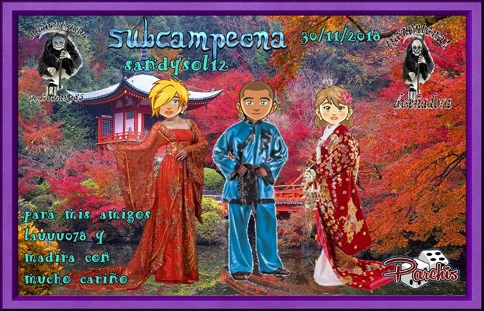 LIGA DE PARCHIS  INDI CAMPEONA INMARRR  SUBCAMPEONA SANDYSOL12  FINALISTA MICRYPAUSINI   11211