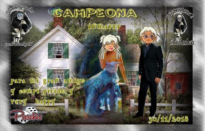 LIGA DE PARCHIS  INDI CAMPEONA INMARRR  SUBCAMPEONA SANDYSOL12  FINALISTA MICRYPAUSINI   B8sls410