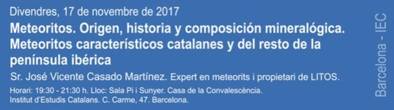 """Propera conferència divendres dia 17: """"Meteoritos. Origen, historia y composición mineralógica"""" 113"""