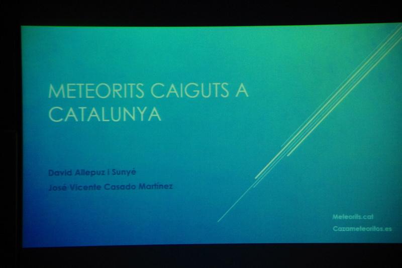 """Propera conferència divendres dia 17: """"Meteoritos. Origen, historia y composición mineralógica"""" 1210"""