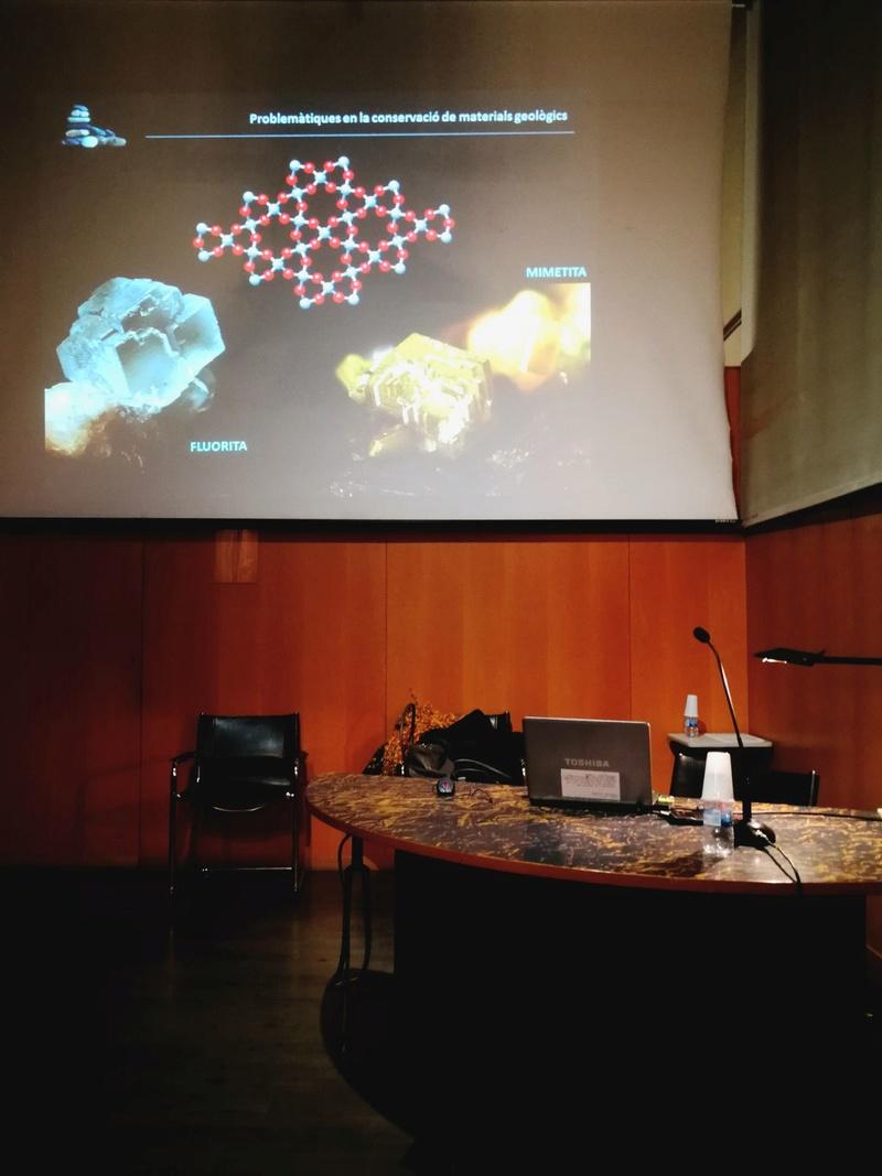 Crònica de la conferència: Formes actuals de documentació, catalogació i conservació preventiva de les col•leccions de mineralogia i petrologia al Museu de Ciències Naturals de Barcelona 1311