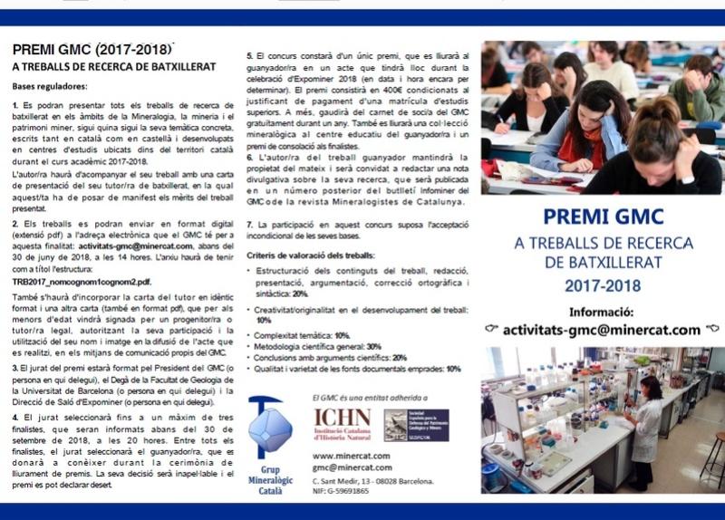 Convocatòria Premi GMC de Treballs de Recerca de Batxillerat 2017-2018 221