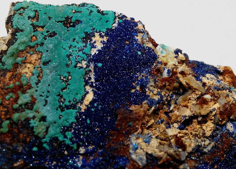 mina - Malaquites de la mina de les Ferreres, Rocabruna, Camprodon, Ripollès 8-mal-10