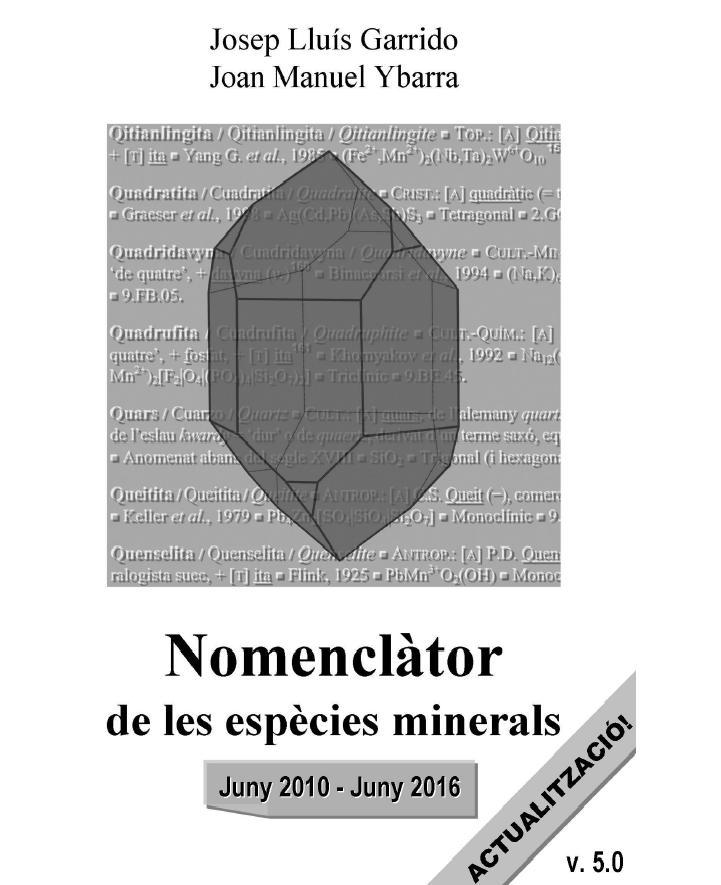 Actualització del 'Nomenclàtor de les espècies minerals' (versió 5.0) Cobert10