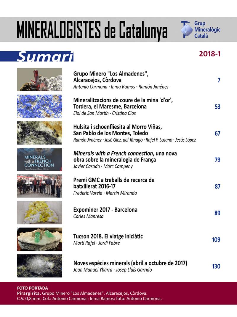 Mineralogistes de Catalunya y Paragénesis 2018 / 1 Mdc_2011