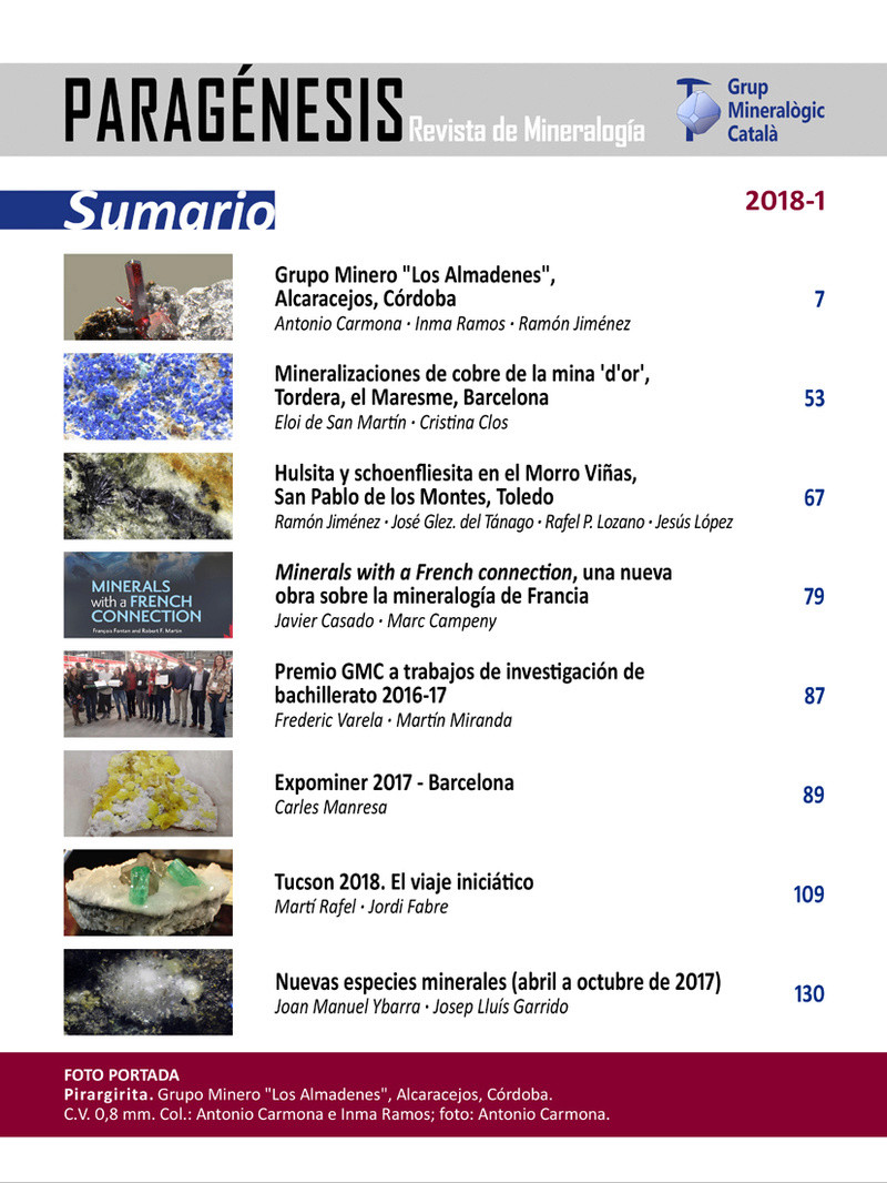 Mineralogistes de Catalunya y Paragénesis 2018 / 1 Pg_20111