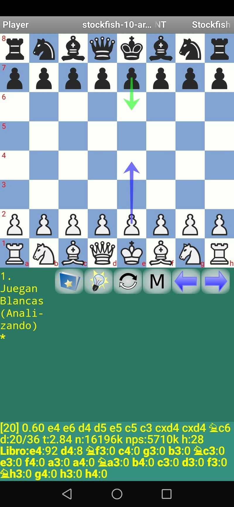 Stockfish 10 Android en el Mate 20 Pro de QUIJOTEL. ¡¡¡ Un pasote !!! Scree102