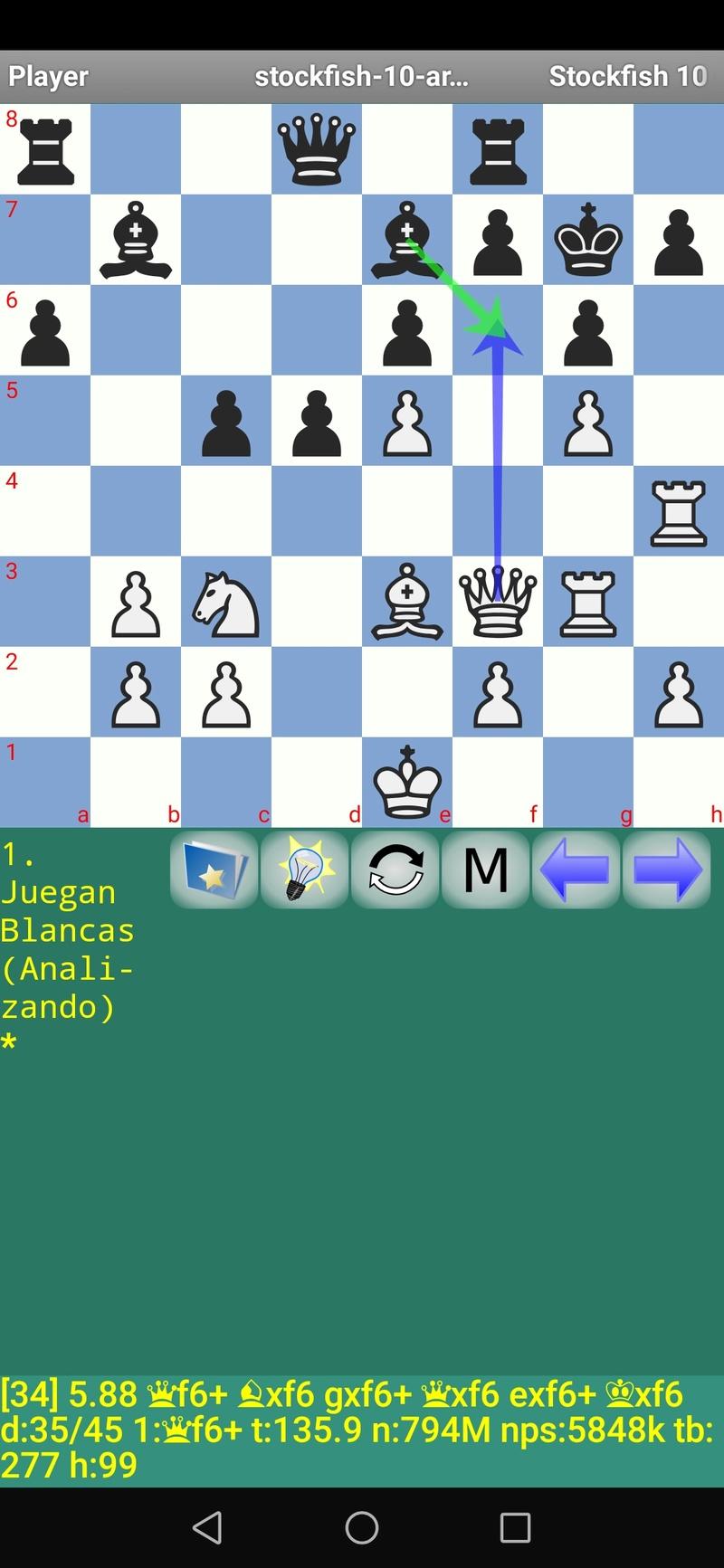 30 posiciones de Test fabulosas con el Stockfish 10 / Matador de QUIJOTEL (I) Scree104