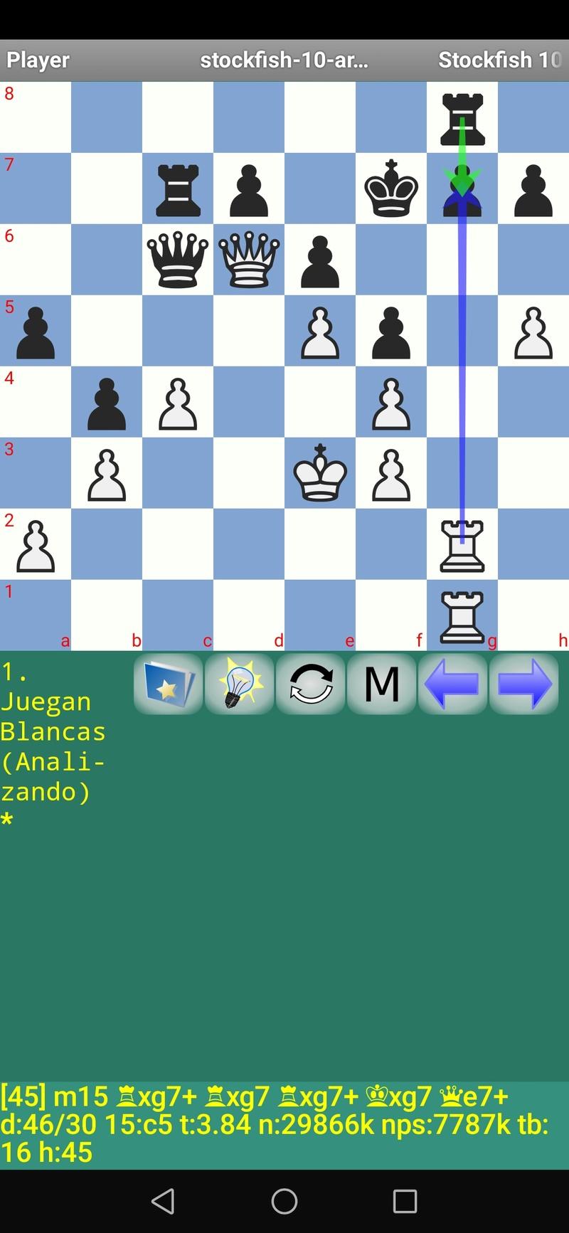 30 posiciones de Test fabulosas con el Stockfish 10 / Matador de QUIJOTEL (I) Scree106
