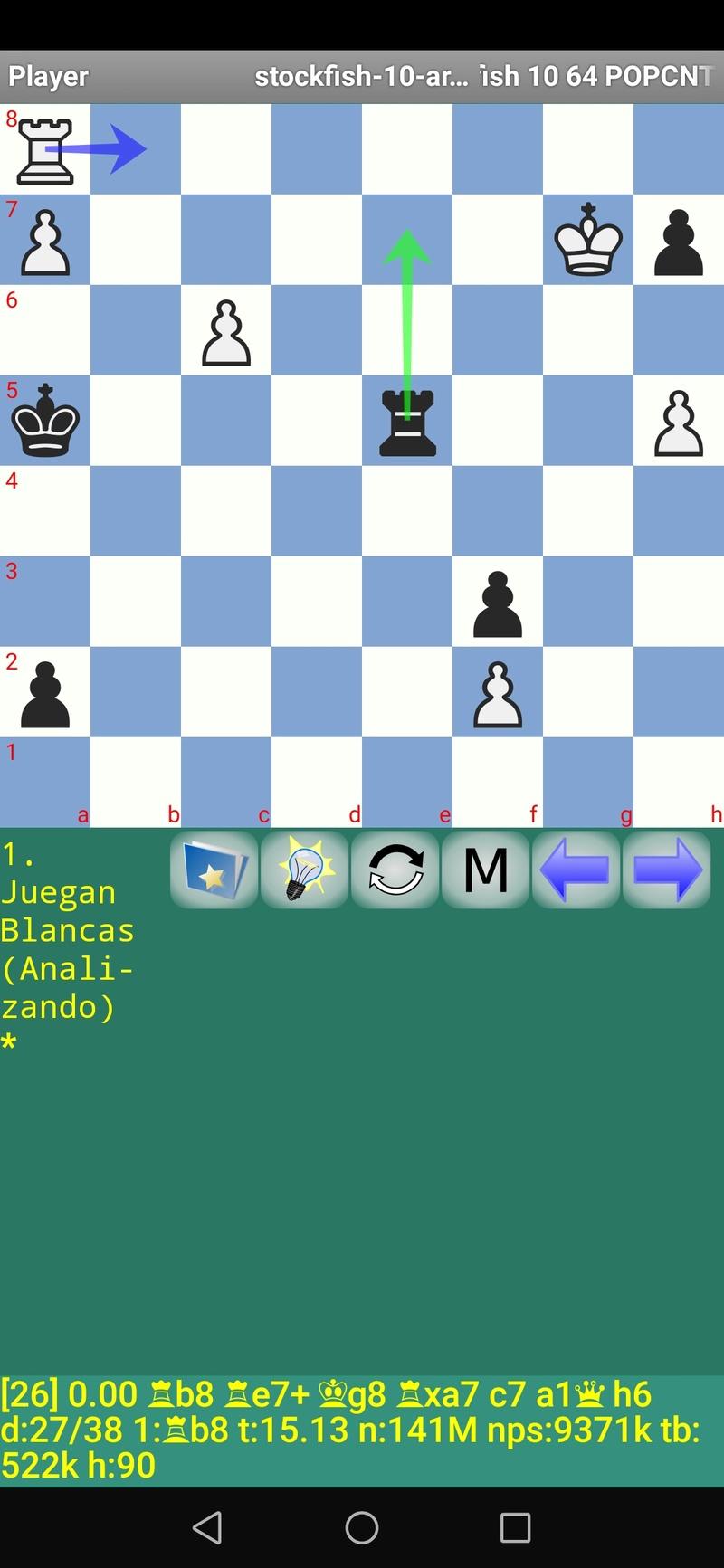 30 posiciones de Test fabulosas con el Stockfish 10 / Matador de QUIJOTEL (I) Scree107