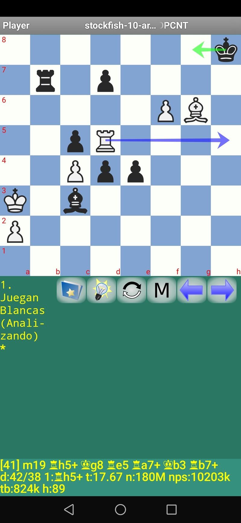 30 posiciones de Test fabulosas con el Stockfish 10 / Matador de QUIJOTEL (I) Scree109