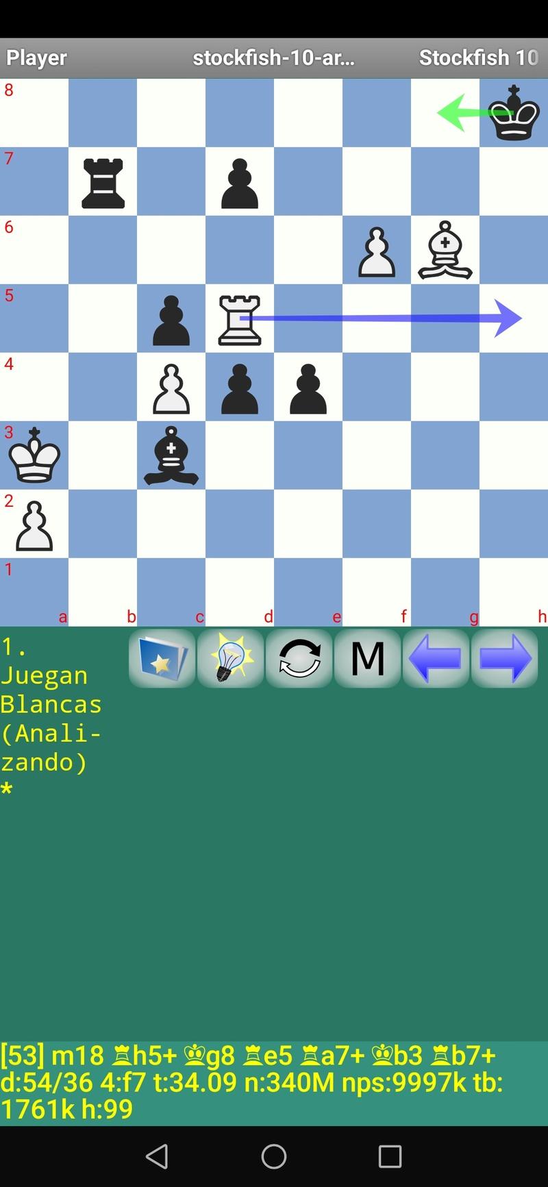 30 posiciones de Test fabulosas con el Stockfish 10 / Matador de QUIJOTEL (I) Scree110
