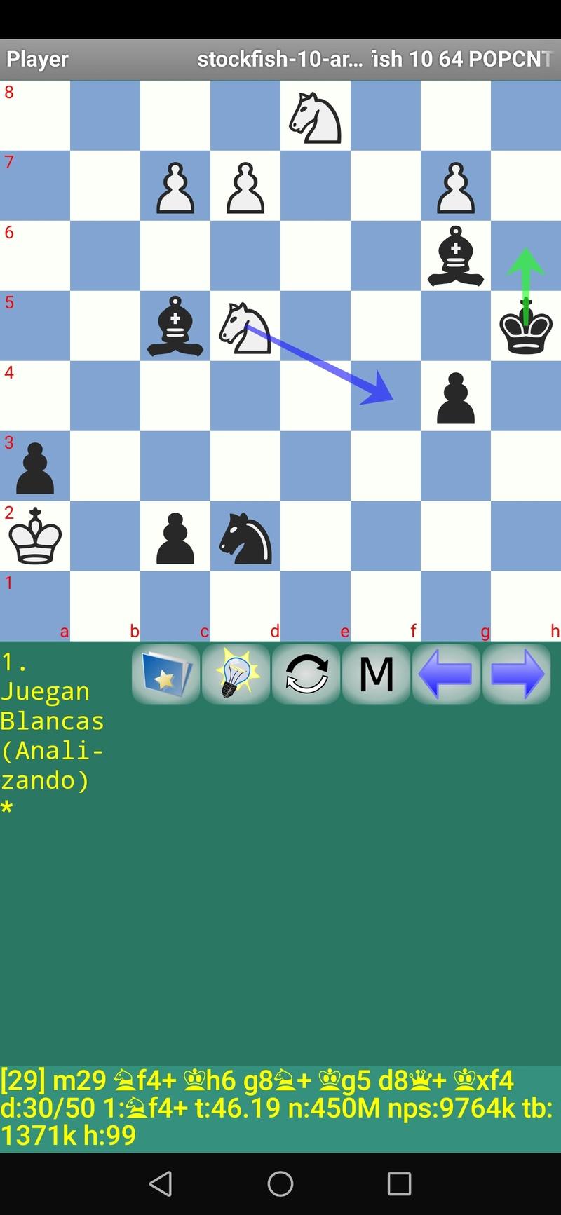 30 posiciones de Test fabulosas con el Stockfish 10 / Matador de QUIJOTEL (I) Scree112