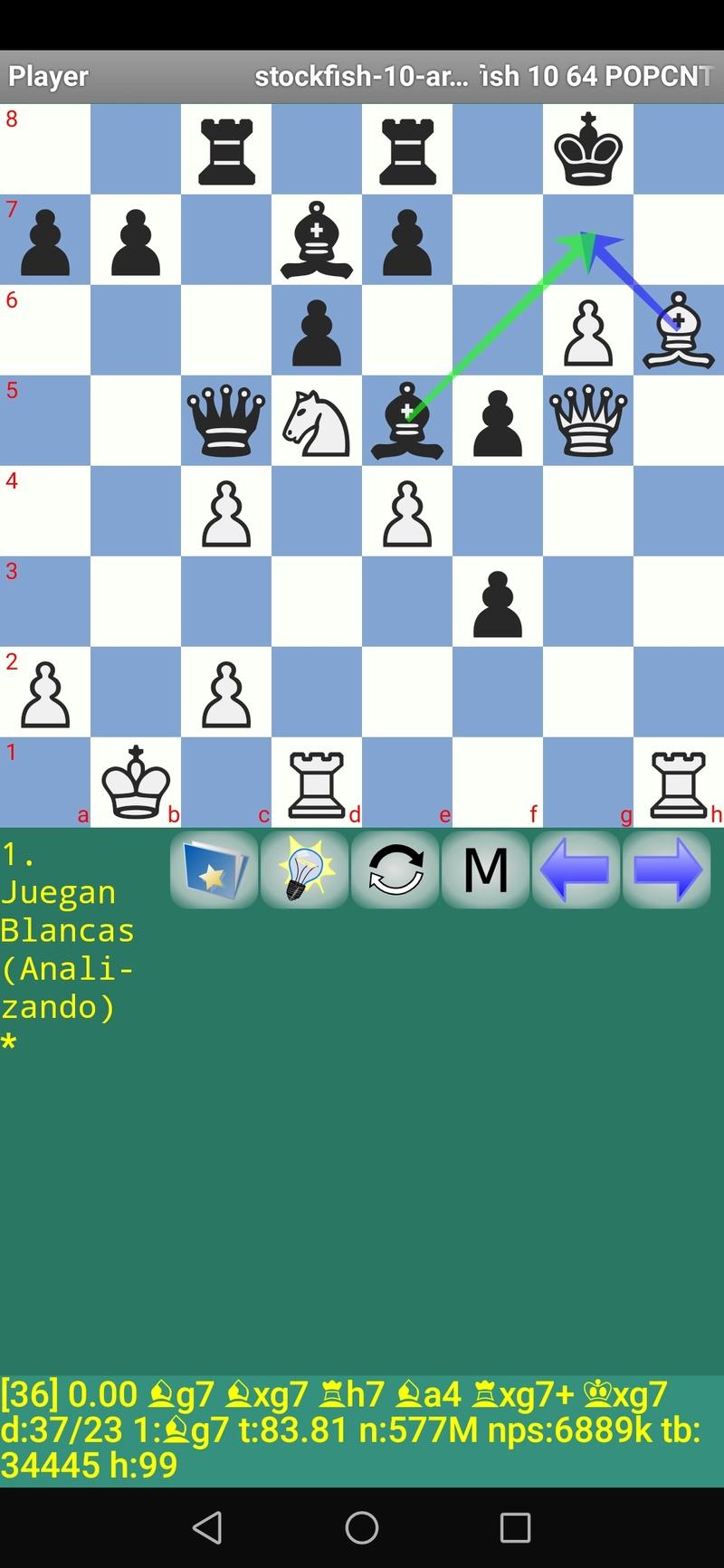 30 posiciones de Test fabulosas con el Stockfish 10 / Matador de QUIJOTEL (I) Scree113