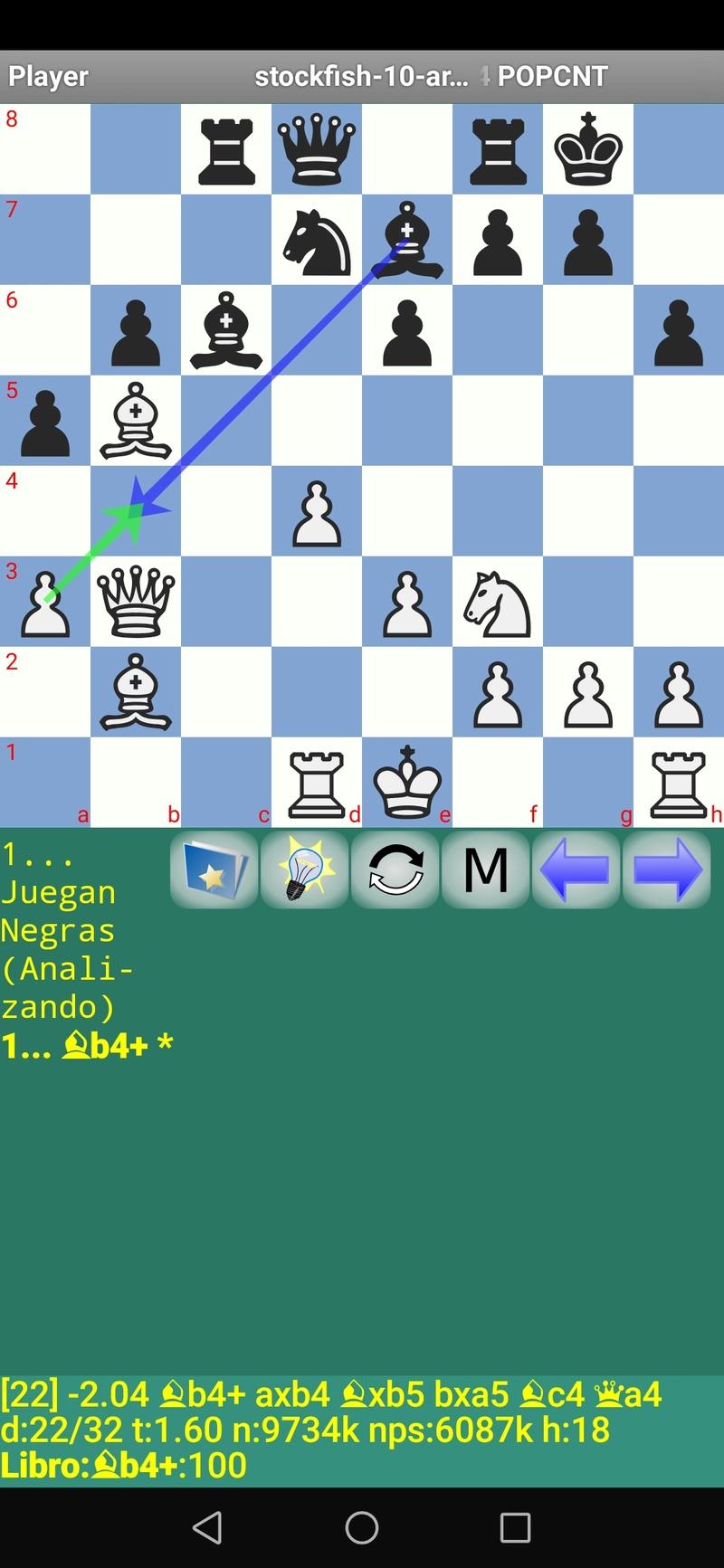 30 posiciones de Test fabulosas con el Stockfish 10 / Matador de QUIJOTEL (I) Scree114
