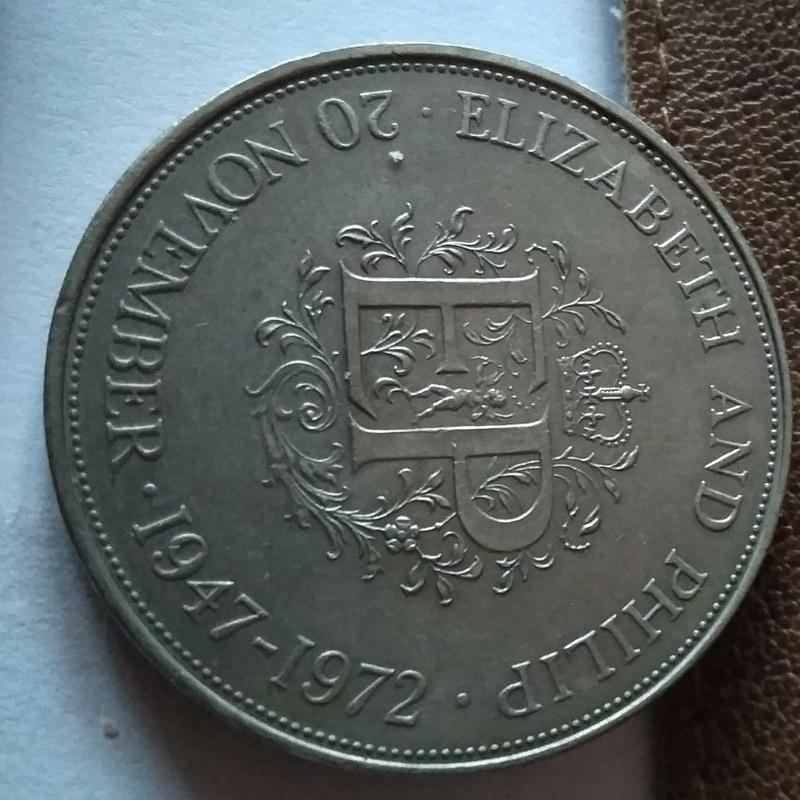 Gran Bretaña, 25 Peniques 1972, Conmemorativa de las Bodas de Felipe e Isabel II 144