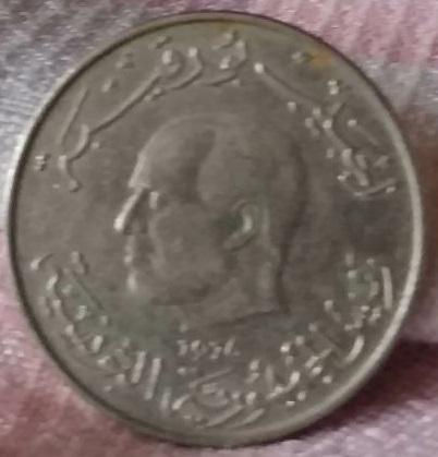 Túnez, 1 dinar de 1976 148