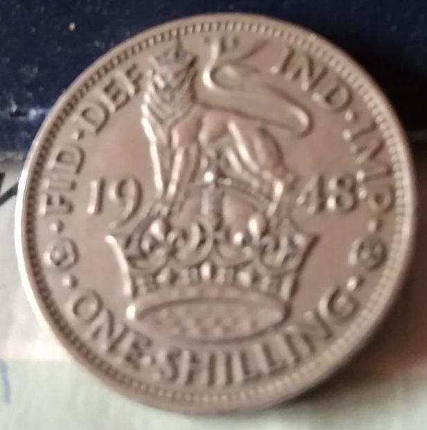 Reino Unido, 1 Chelín de 1948 162