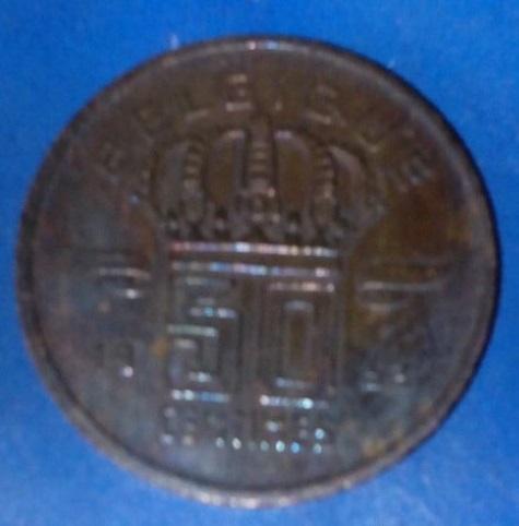 Bélgica, 50 céntimos de 1953 227