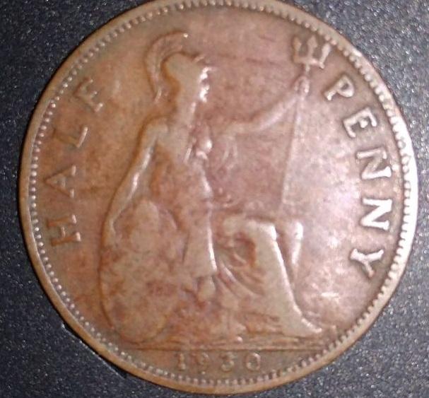 Reino Unido, 1/2 penique Jorge V, 1930 242