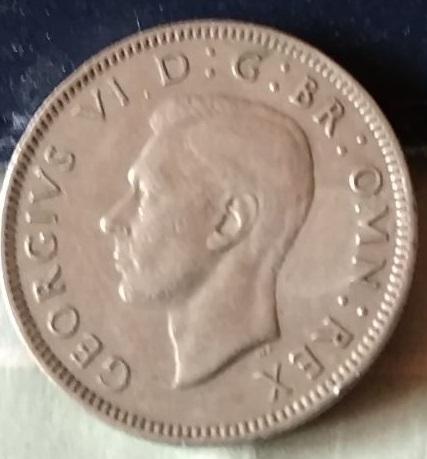 Reino Unido, 1 Chelín de 1948 258