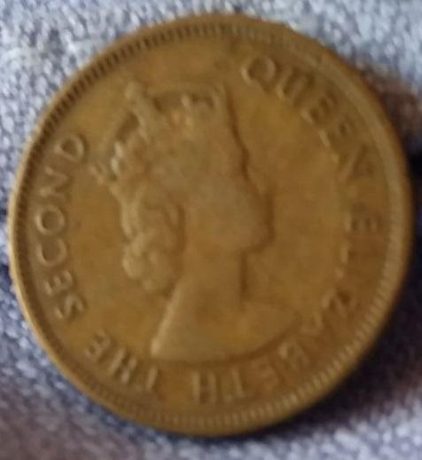 Hong Kong, 10 Centavos de 1960 Img-2024