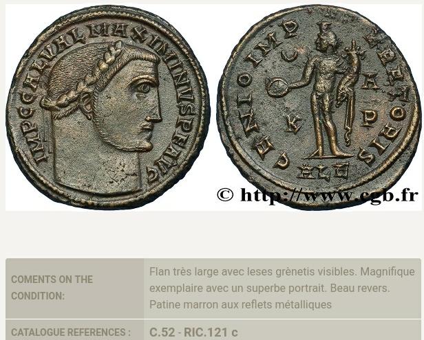 Nummus de Maximino II. GENIO IMP-ERATORIS. Genio estante a izq. Alejandría. Screen20