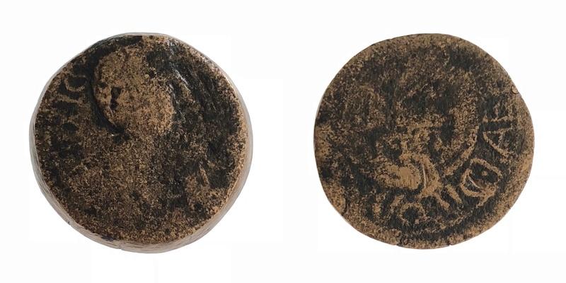 Semis de Cartago Nova, tiempos de Augusto. C LAETILIVS APALVS II V Q - REX PTOL. 87e0cd10