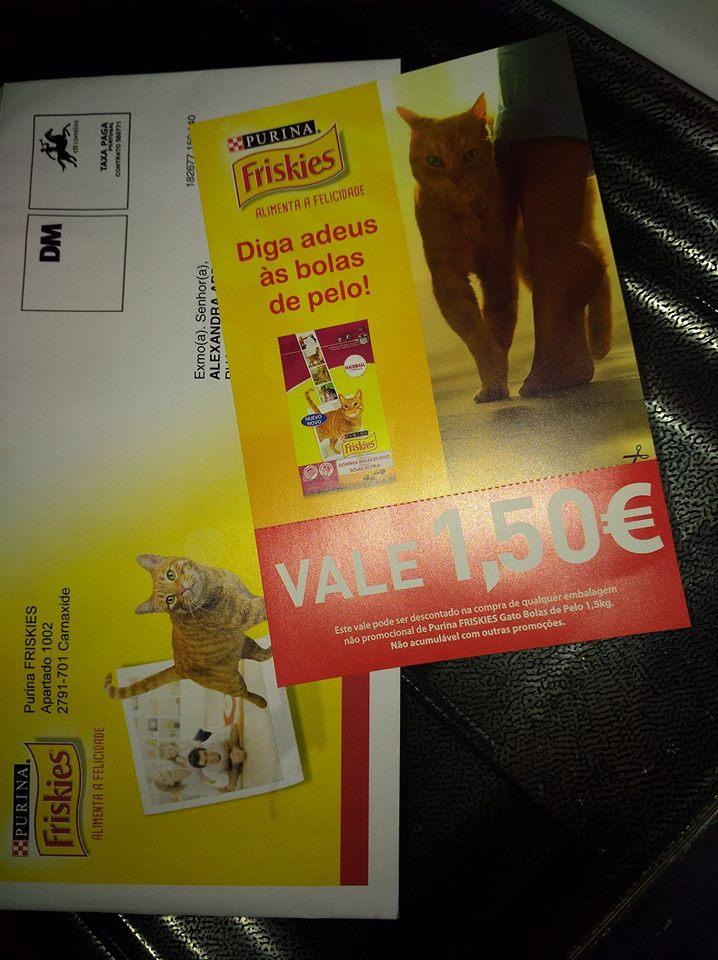 Amostra Vale 1.50€ em FRISKIES Bolas de Pelo 1.5Kg 24993310