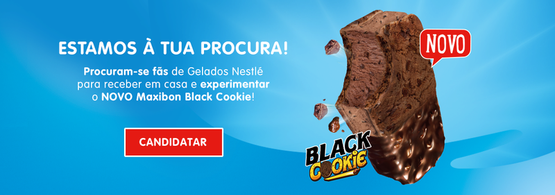 Amostras My Nestlé- MAXIBON BLACK COOKIE gelado  40012