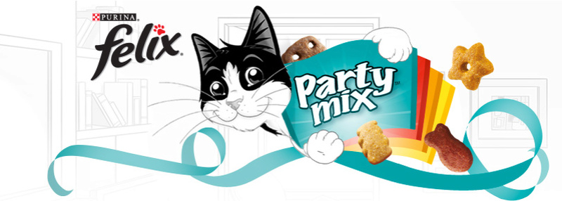 Amostras Purina Felix -snacks Felix Party Mix Header10