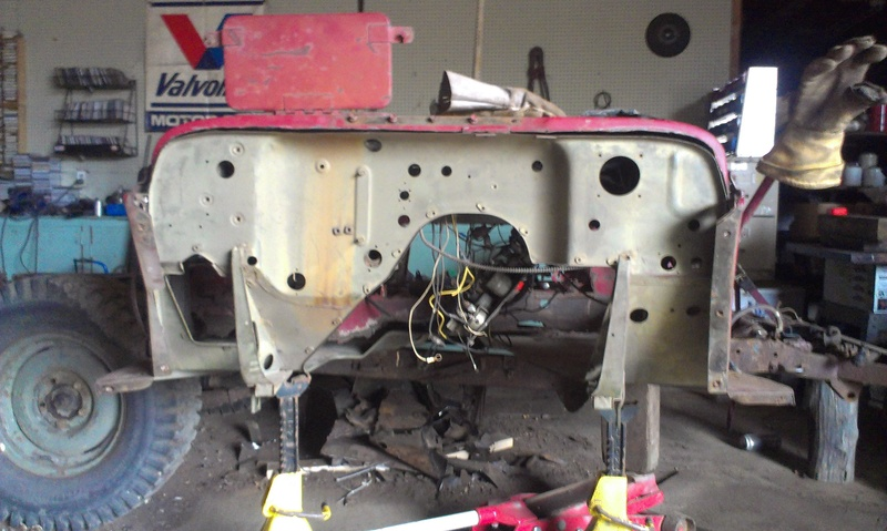 Proper Willys Jeep front floor/firewall replacement 101 Imag1019