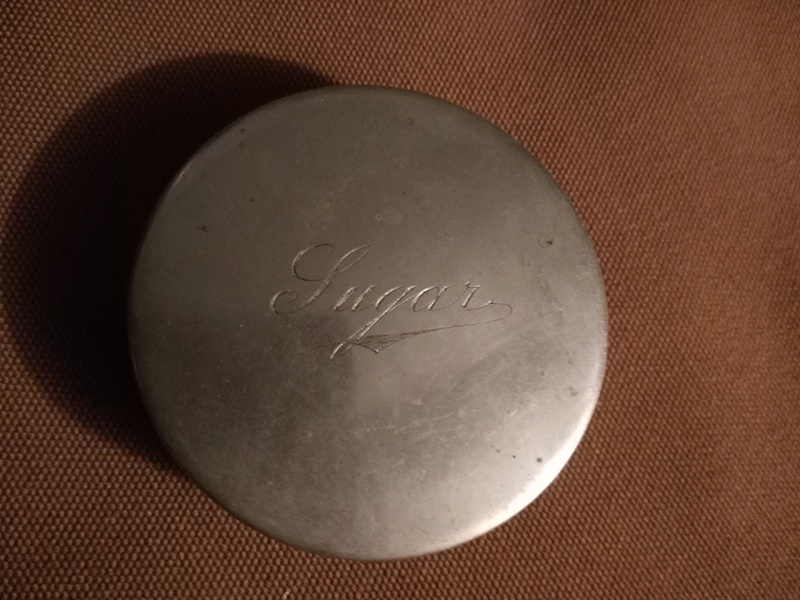Ww1 Sugar Ration Tin with contents Img_2053