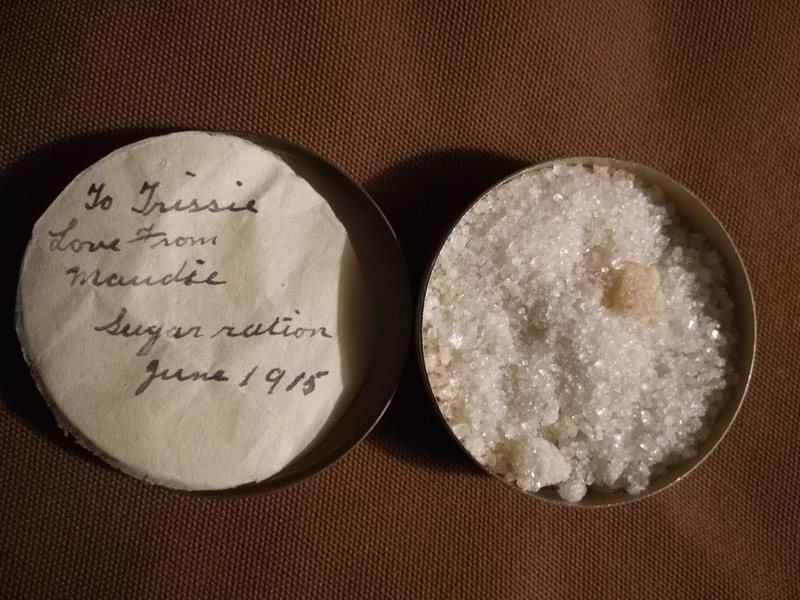 Ww1 Sugar Ration Tin with contents Img_2055