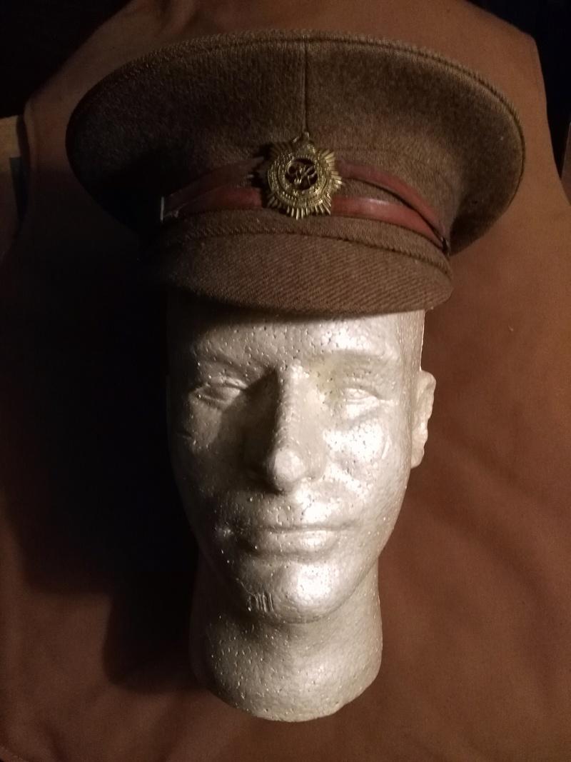 Pvt Albert Kents Royal Canadian Army Service Corps Visor Cap Img_2057