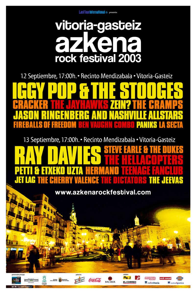 Agenda de giras, conciertos y festivales 200310