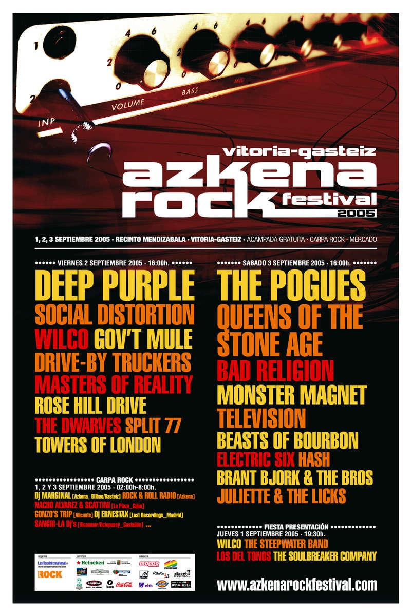 Agenda de giras, conciertos y festivales 200510