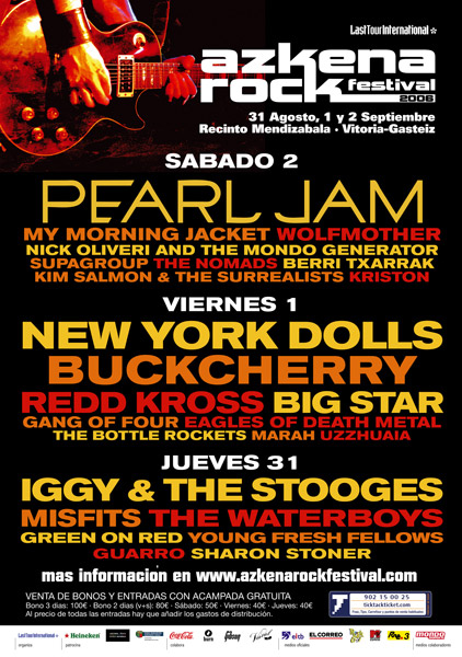 Agenda de giras, conciertos y festivales 200610