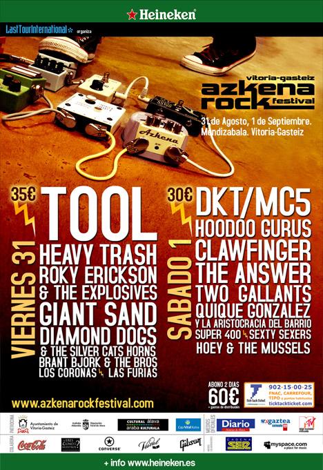 Agenda de giras, conciertos y festivales 200710