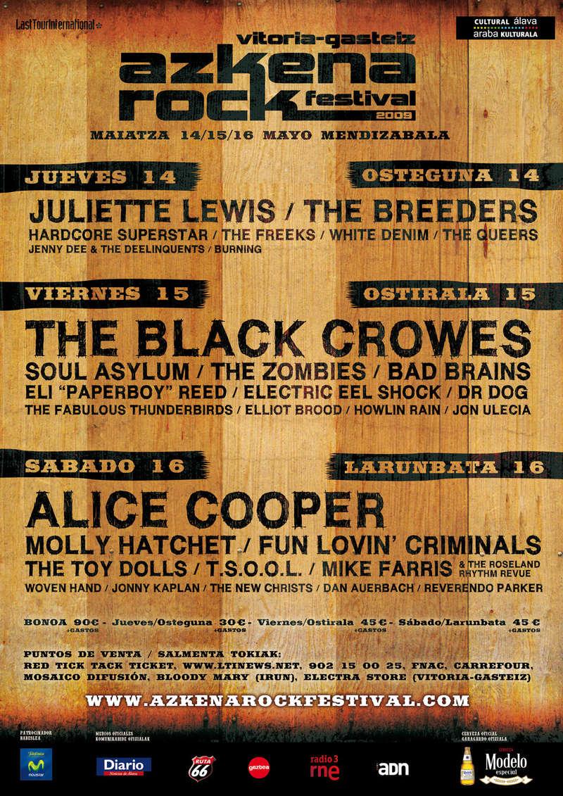 Agenda de giras, conciertos y festivales 200910
