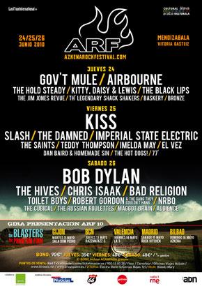 Agenda de giras, conciertos y festivales 201010