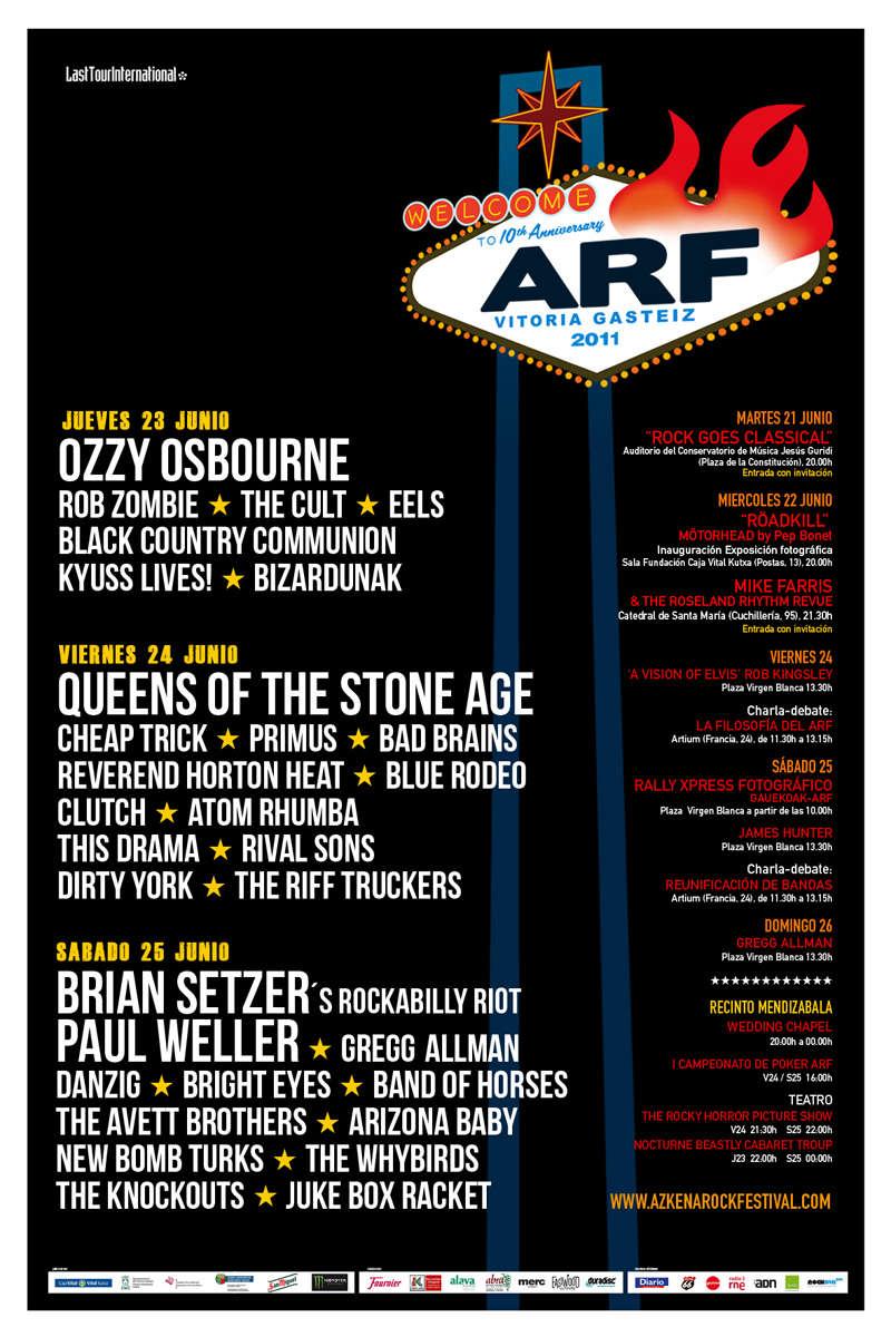 Agenda de giras, conciertos y festivales 201110