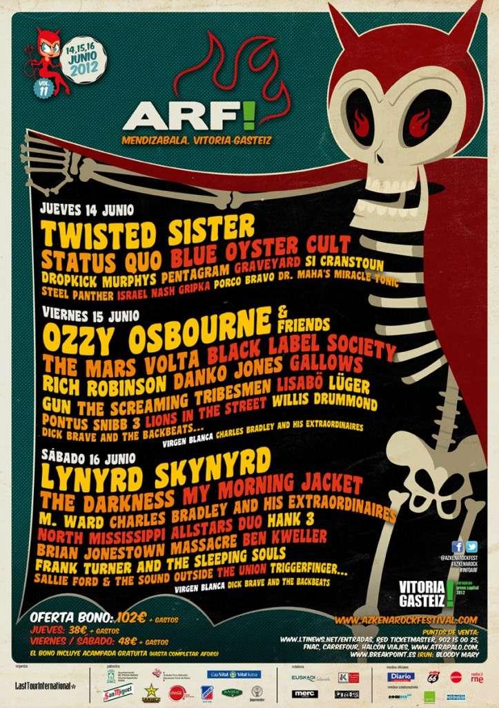 Agenda de giras, conciertos y festivales 201210