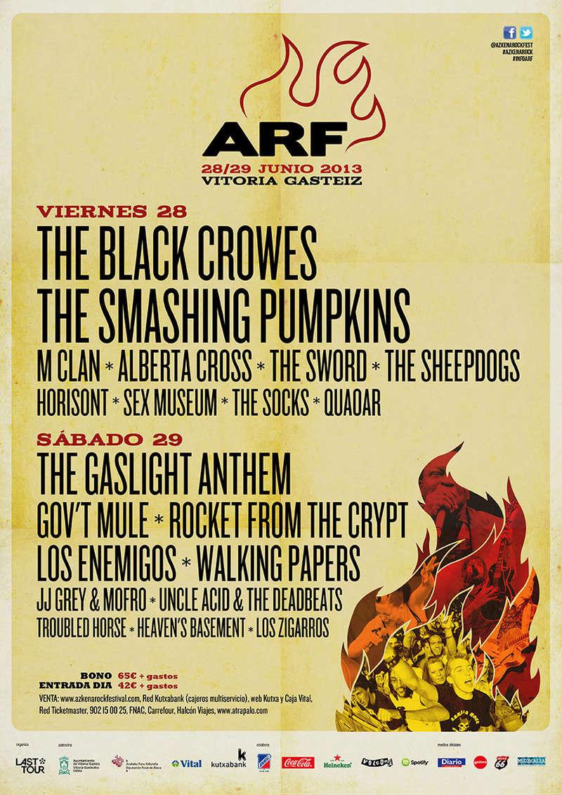 Agenda de giras, conciertos y festivales 201310